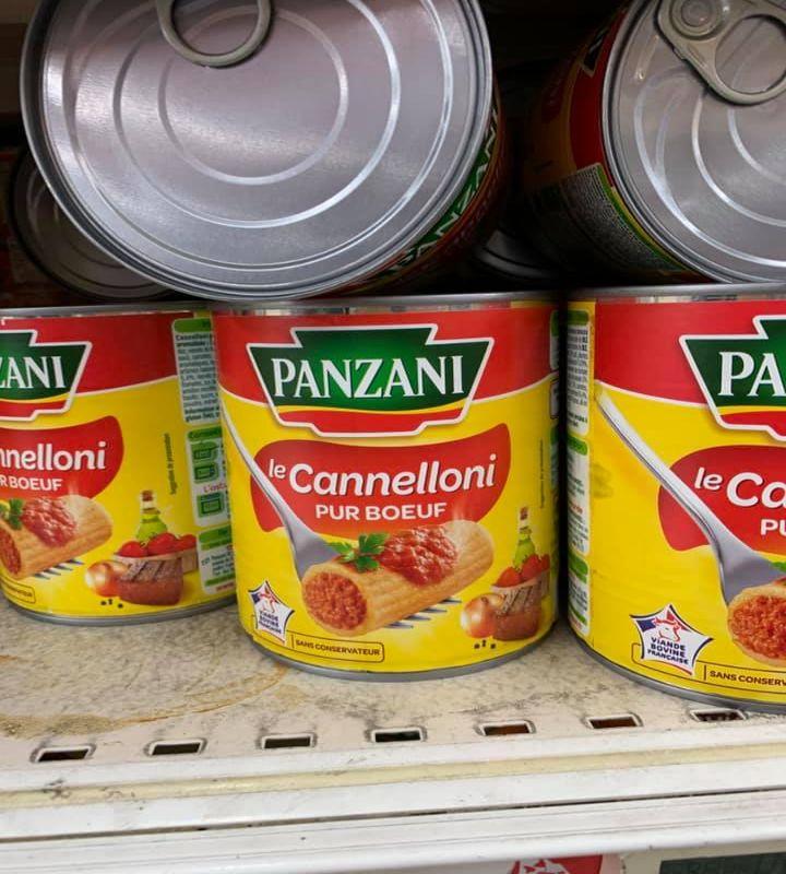 Cannelloni in lattina, Francia