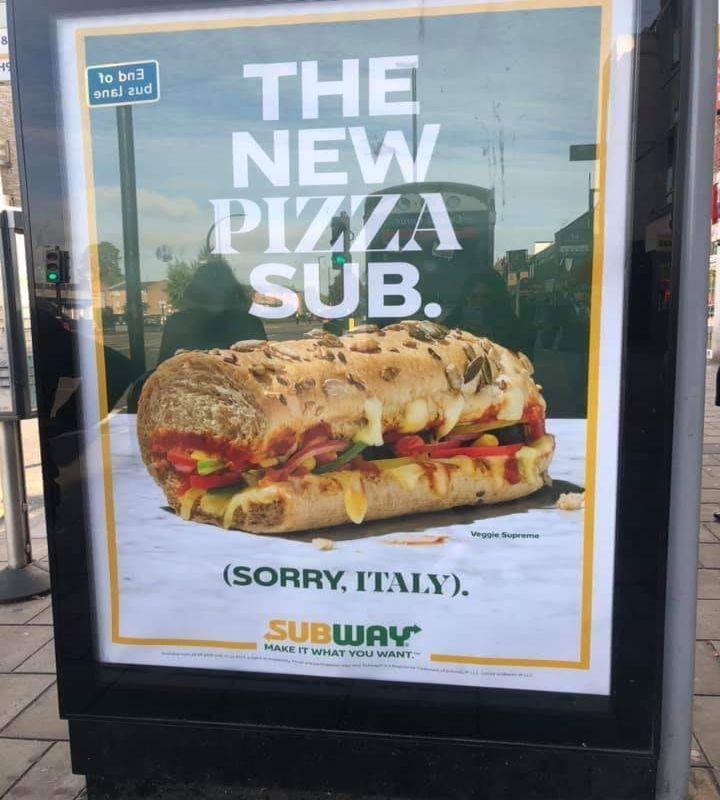 Panino gusto pizza di Subway, Regno Unito