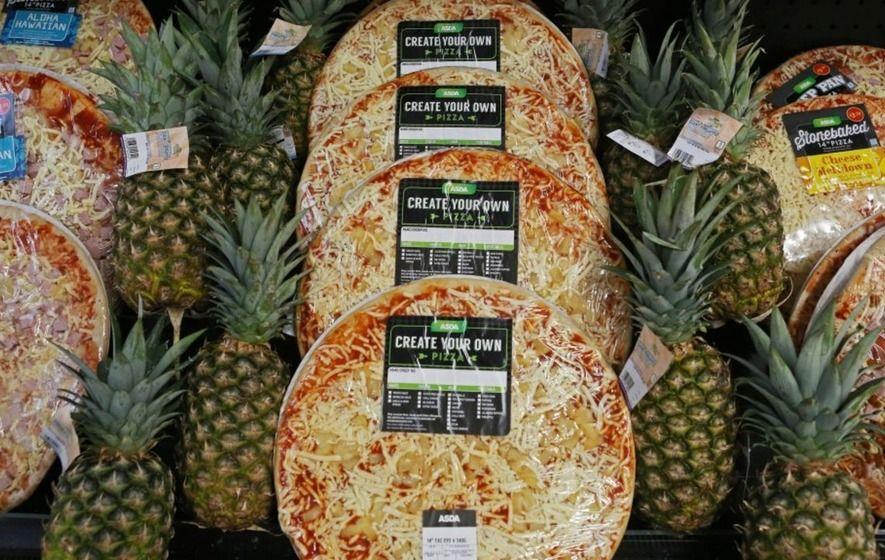 Pizza all'ananas, Regno Unito