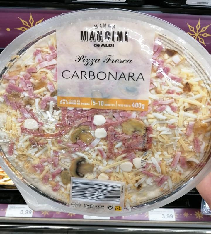 Pizza alla carbonara, Spagna