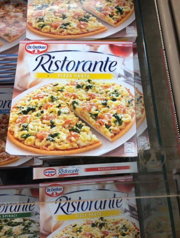 Pizza con pasta, Germania
