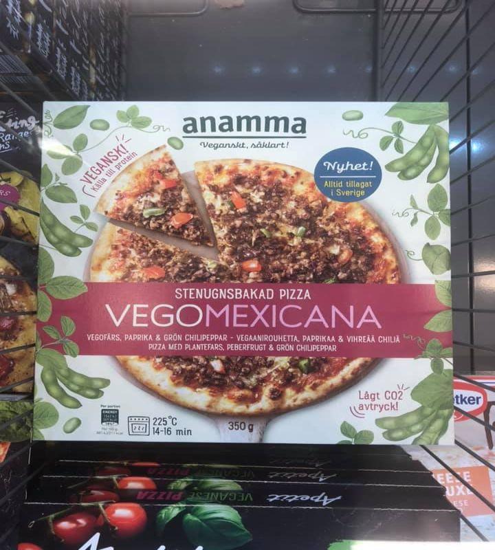 Pizza Vegomexicana, Svezia