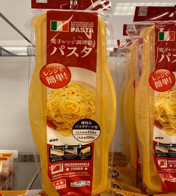 Contenitore per cuocere gli spaghetti in microonde, Giappone