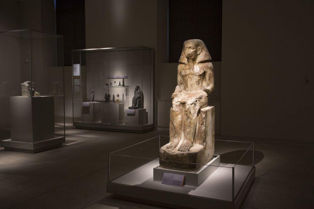 Sala con statue del Medio e Nuovo Regno, foto Museo Egizio Torino