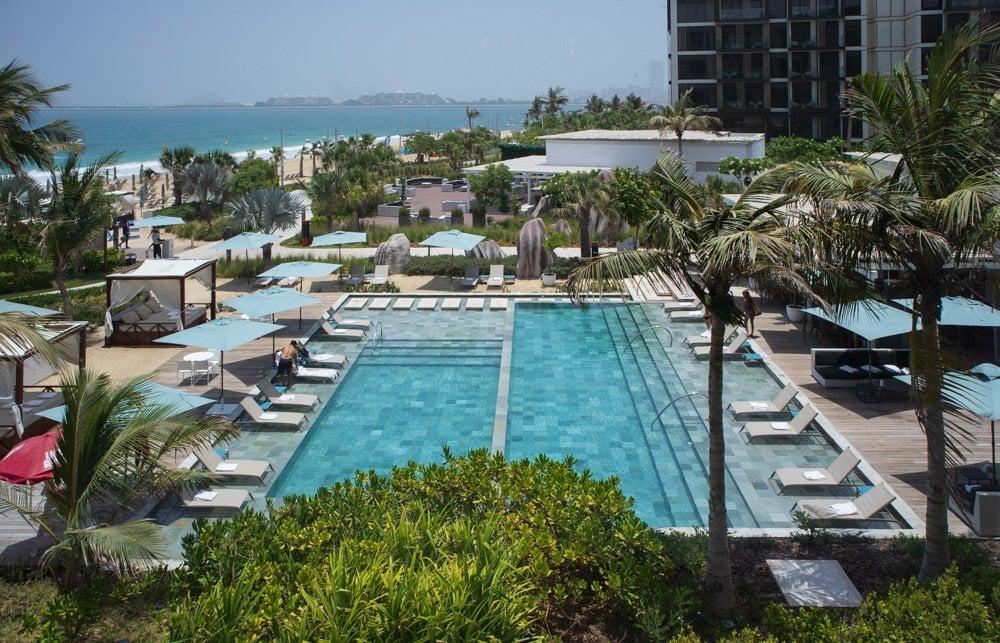 Beach club del Caesar Palace Bluewaters a Dubai