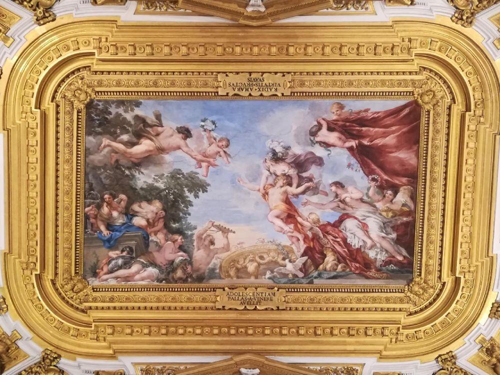 Soffitto affrescato di Palazzo Pitti a Firenze, foto di Federica Chiodi di My Own Trip