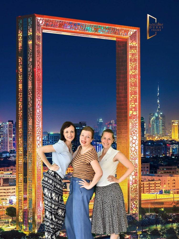 Fotografia souvenir del Dubai Frame