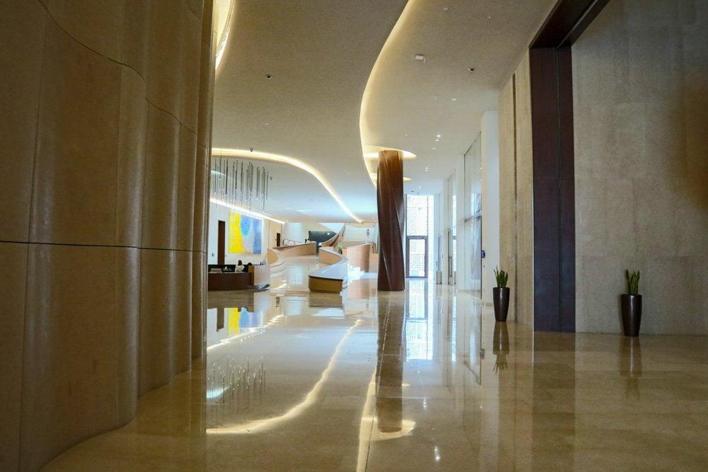 Interno dell'Etihad Museum a Dubai