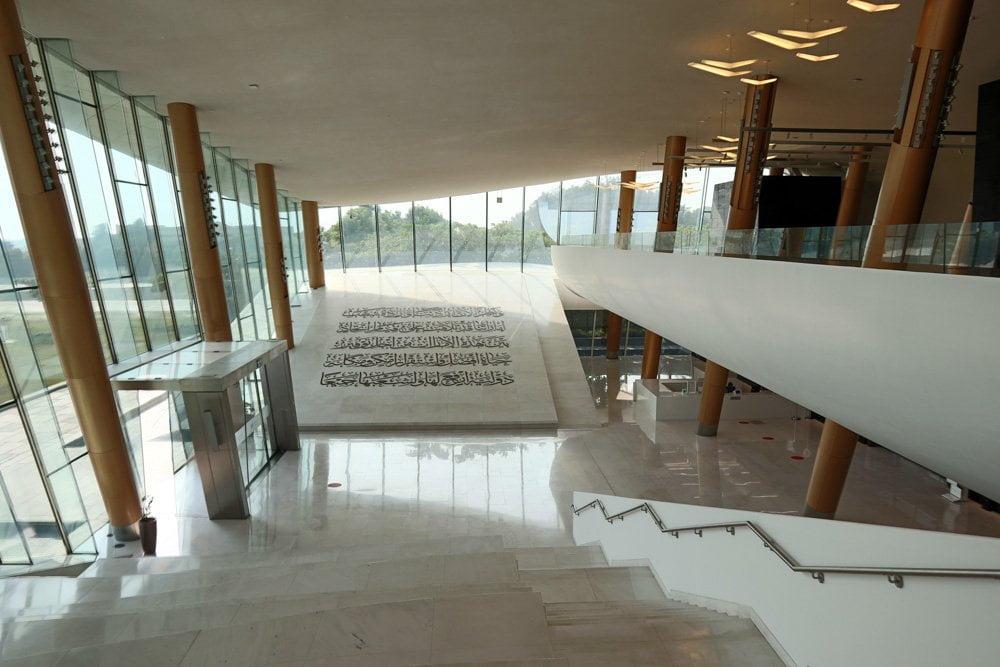Area didattica dell'Etihad Museum a Dubai