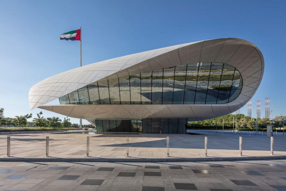 Esterno dell'Etihad Museum a Dubai