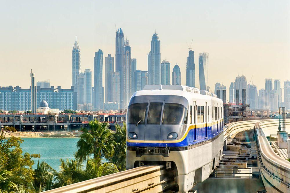 La monorotaia di Palm Jumeirah a Dubai