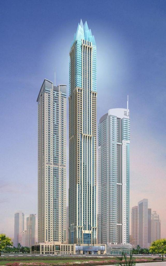 Rendering grattacielo Marina 101 a Dubai, Emirati Arabi Uniti