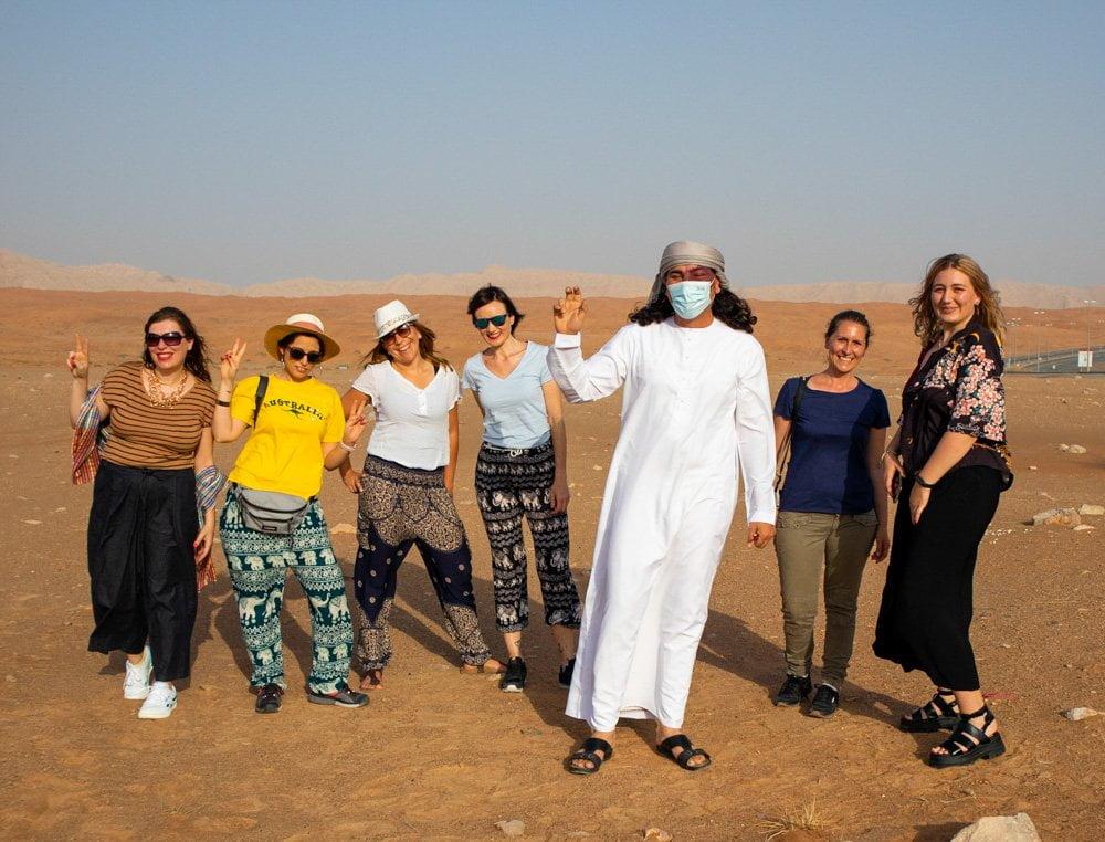 Travel Blogger Italiane nel deserto di Sharja, negli Emirati Arabi Uniti
