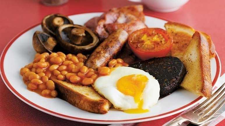 Full English breakfast, foto dal sito di Sainsbury
