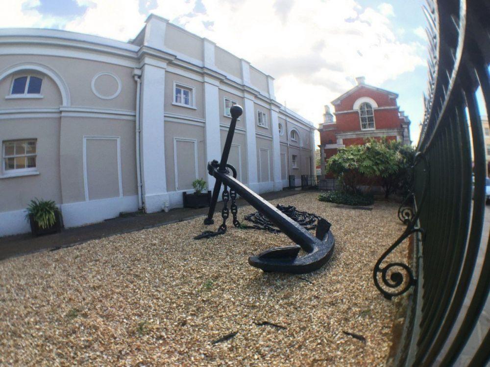 Un'ancora nel quartiere di Greenwich a Londra