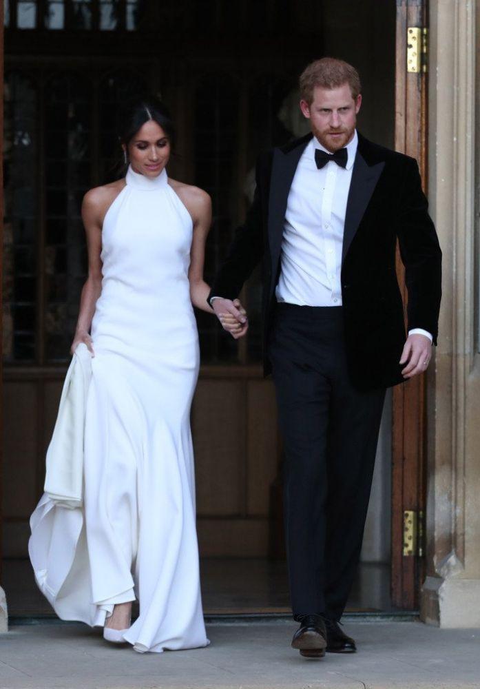 Meghan e Harry al secondo ricevimento per il loro matrimonio, foto Getty Images