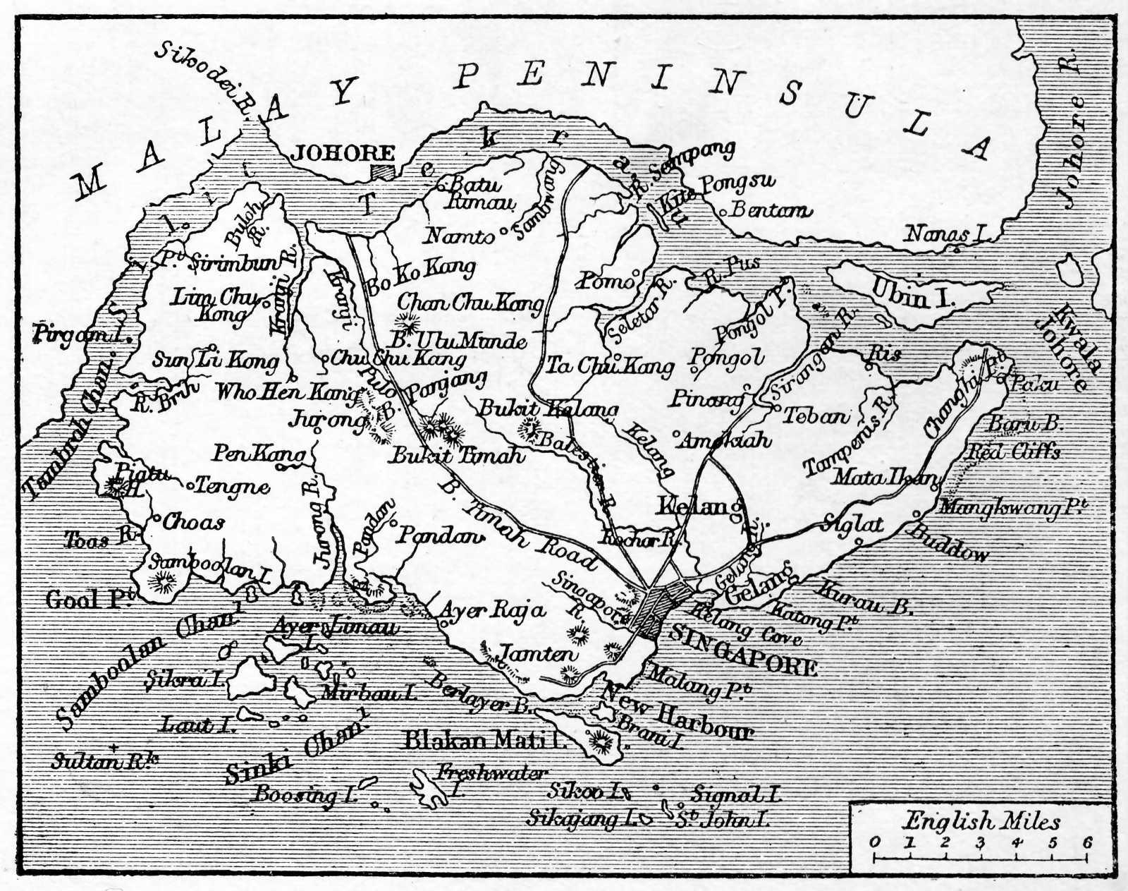 Mappa di Singapore