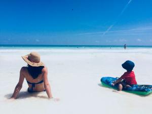 Stefania del blog Con la valigia arancione in Messico con suo figlio Alessandro