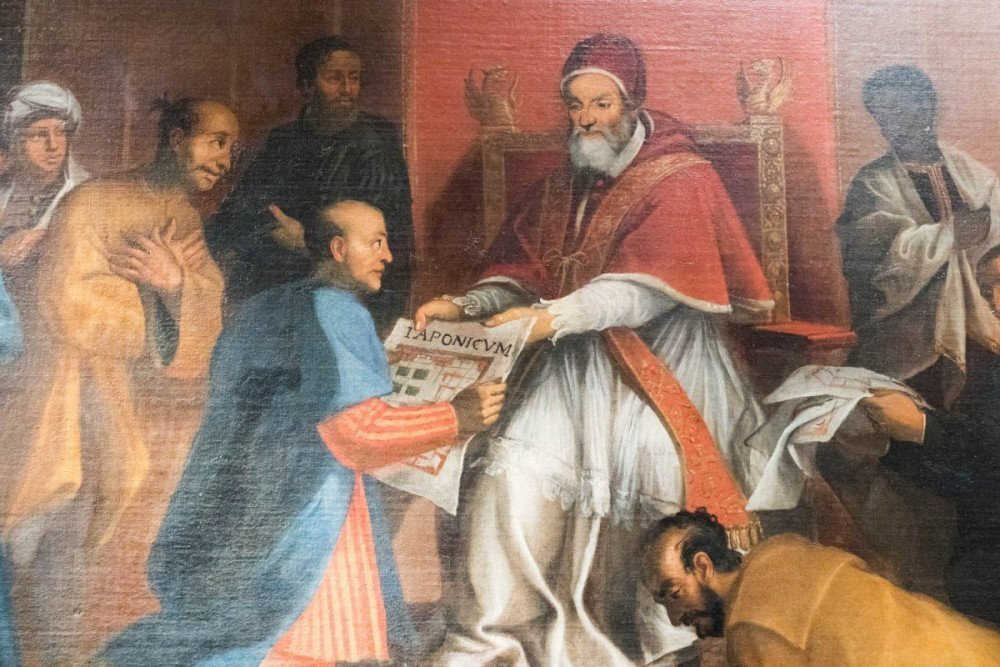 L'ambasceria giapponese viene ricevuta da Papa Gregorio XIII, autore ignoto