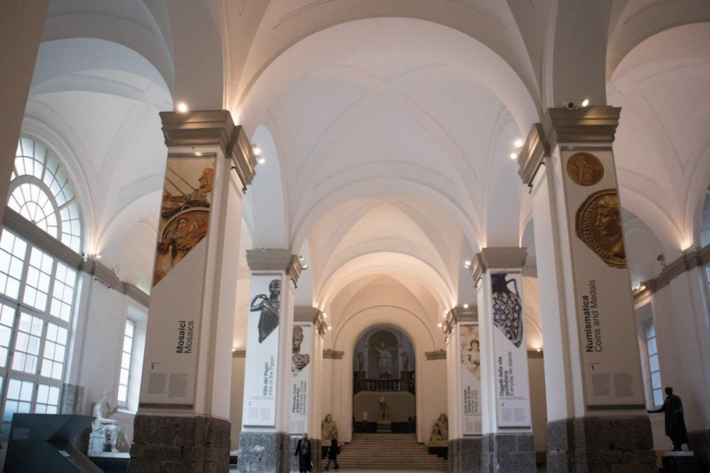 Atrio del Museo Archeologico Nazionale di Napoli
