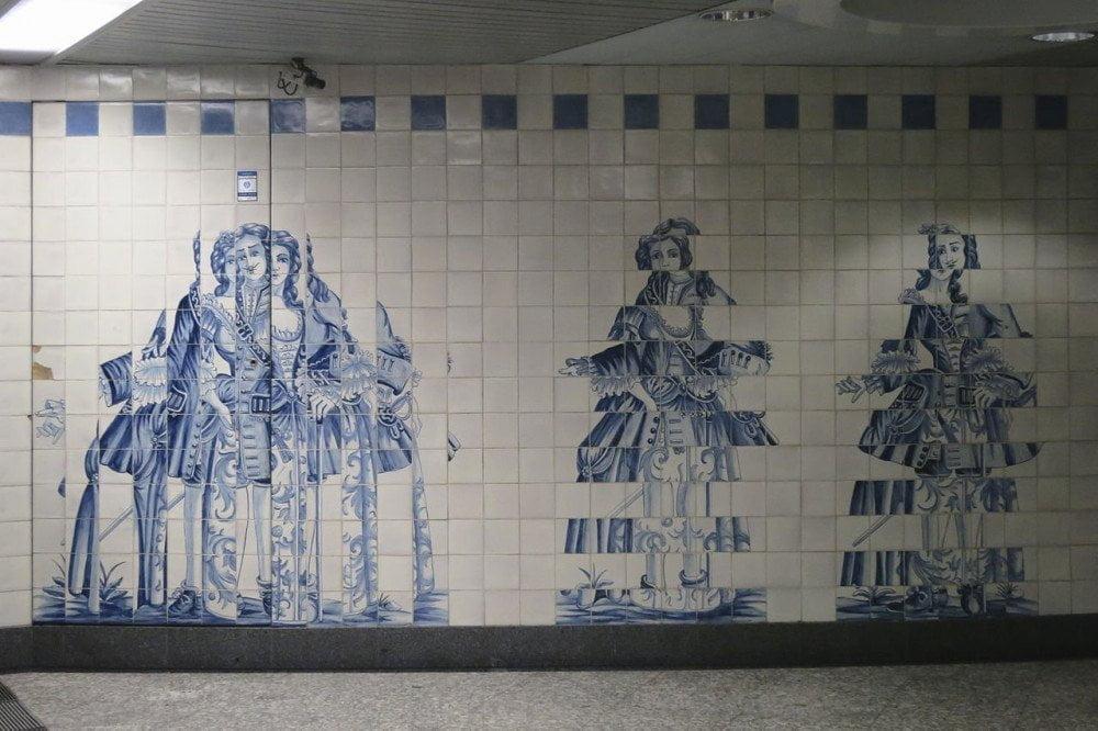 Azulejo di Eduardo Nery alla stazione Campo Grande della metropolitana di Lisbona