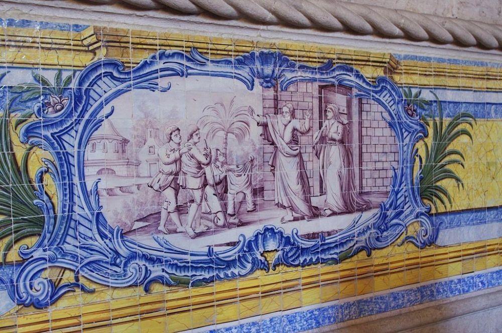 Decorazioni con azulejo al Monastero dos Jerónimos di Lisbona