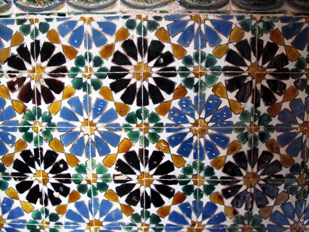 Decorazione di azulejo nel Palácio Nacional de Sintra, foto Morgaine