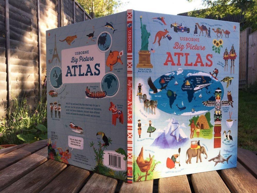 La copertina del Big Picture Atlas, l'atlante in inglese per bambini delle edizioni Usborne
