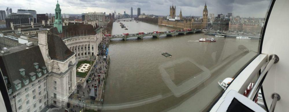 Vista panoramica da una cabina del London Eye