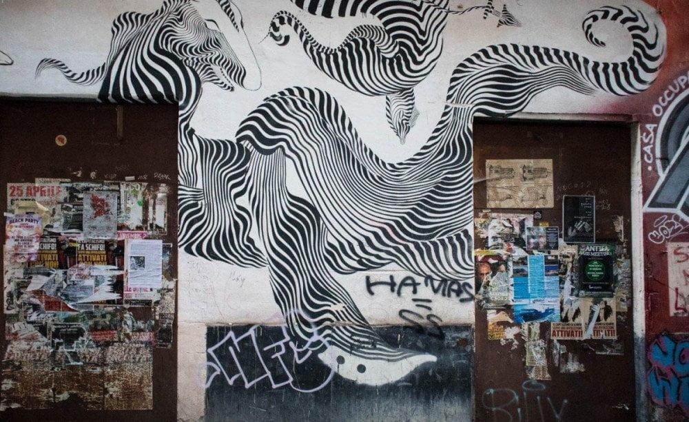 Murales nei caruggi di Genova