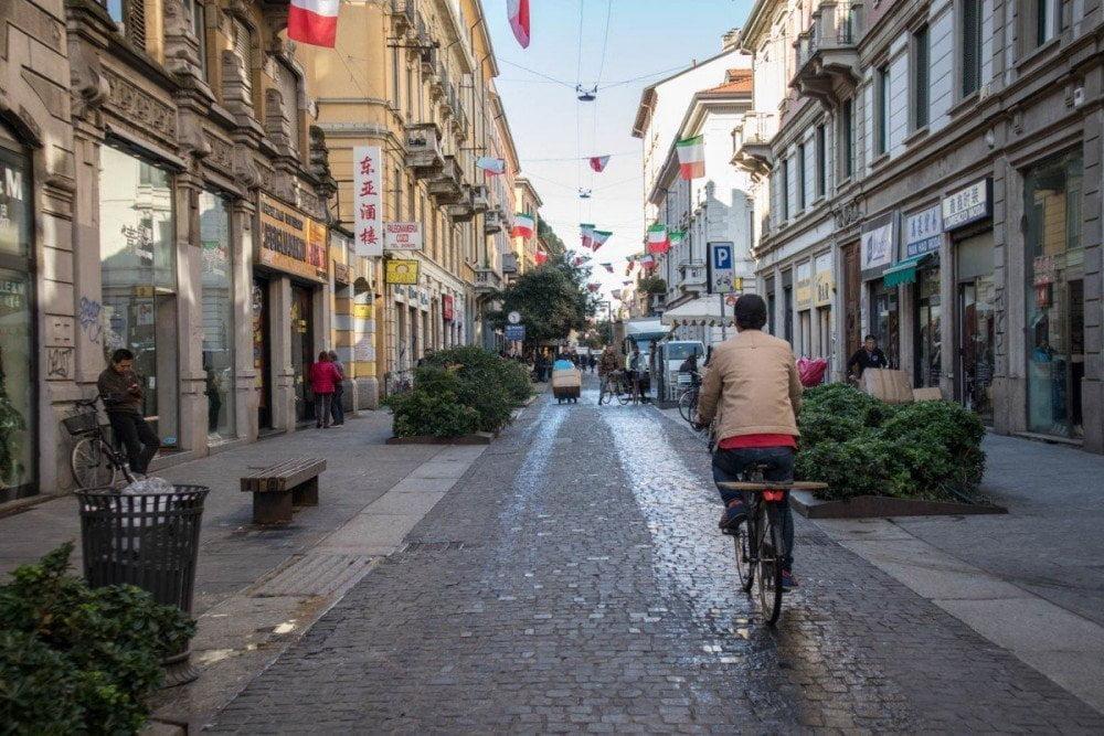 Via Paolo Sarpi, la strada principale della Chinatown di Milano