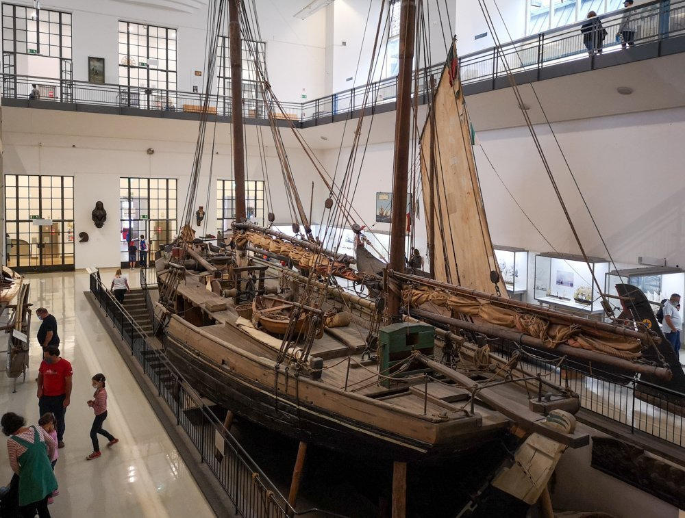 Veliero a grandezza naturale al Deutsches Museum di Monaco di Baviera