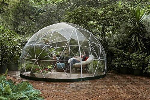 Garden dome, struttura fissa in vetro trasparente per glamping