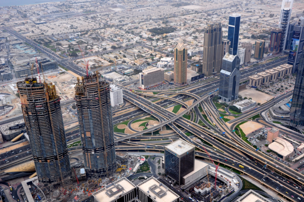Veduta aerea di Dubai