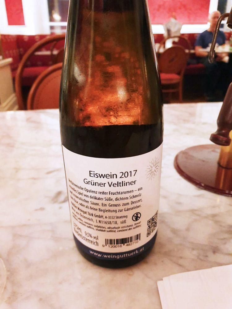 Bottiglia di vino Eiswein 2017 Grüner Veltliner