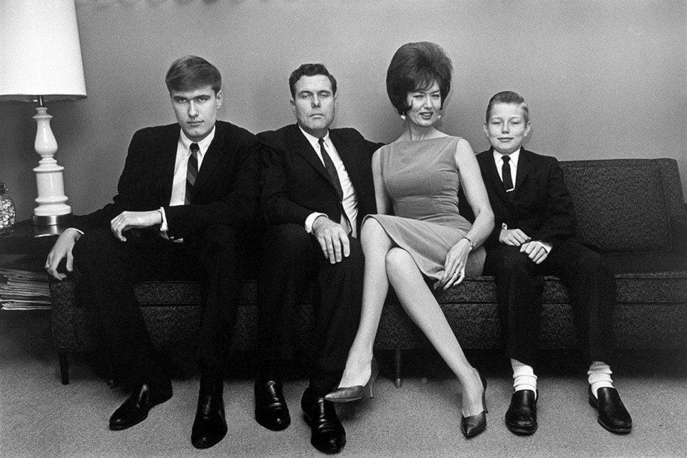 Famiglia nordamericana negli anni Sessanta fotografata da Elliott Erwitt