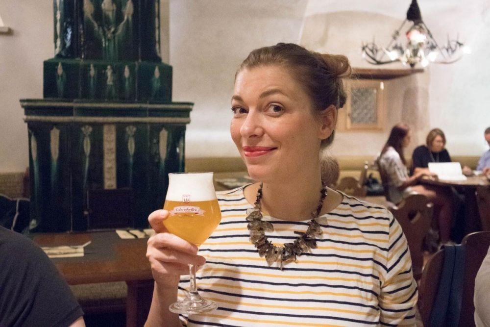 Paola Bertoni al ristorante Forst di Trento