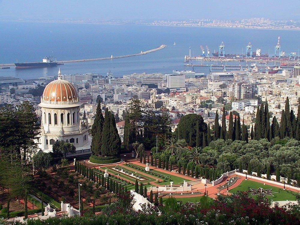 Panorama della città di Haifa in Israele