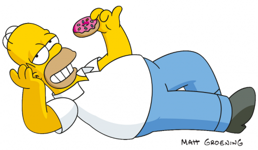 Homer Simpson con un donut