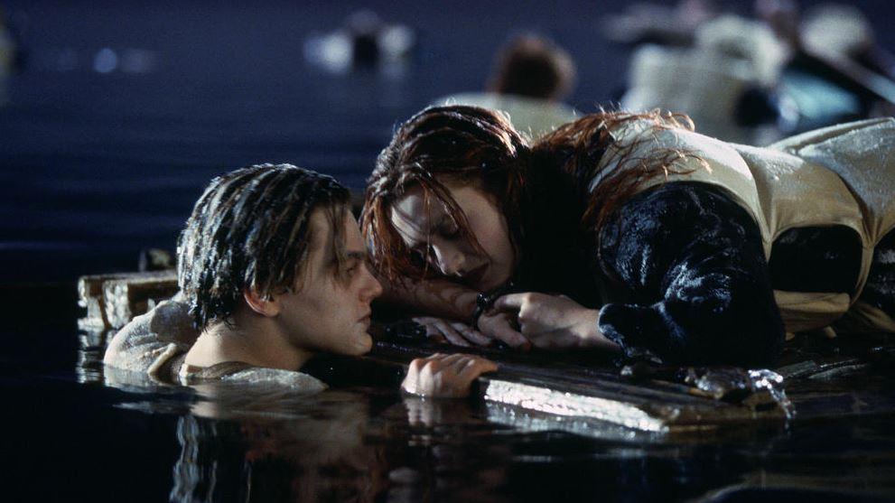 Jack e Rose scena del naufragio in Titanic