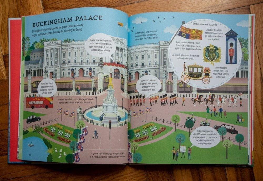 Buckingham Palace nel libro Alla scoperta di Londra delle Edizioni Usborne
