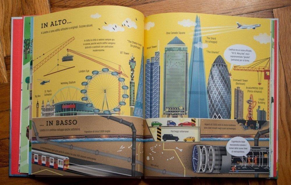 I palazzi più alti nel libro Alla scoperta di Londra delle Edizioni Usborne