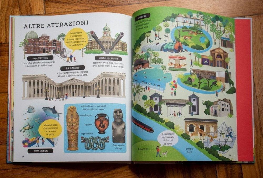 Le attrazioni cittadine nel libro Alla scoperta di Londra delle Edizioni Usborne
