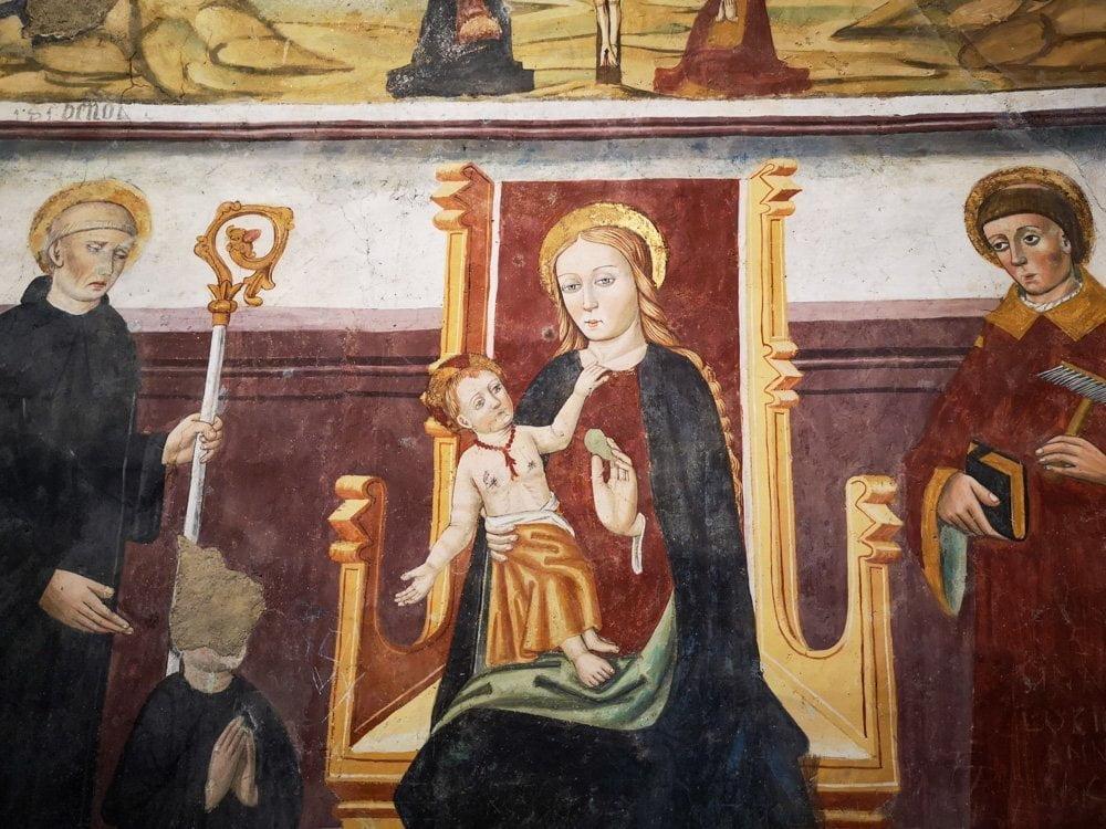 Quadro Madonna della Pera alla Sacra di San Michele