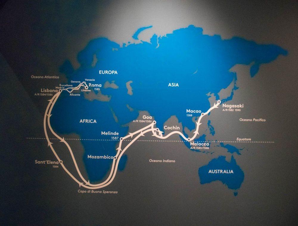 Itinerario Ambasciata Tensho del 1582 al MUDEC Museo delle Culture di Milano