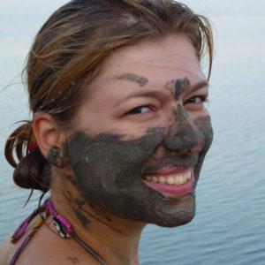 Paola Bertoni sul Mar Morto