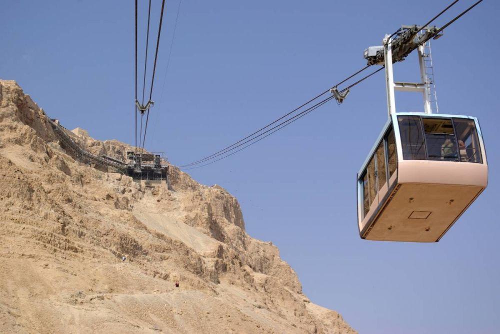 La cabinovia per raggiungere i resti della fortezza di Masada, in Israele