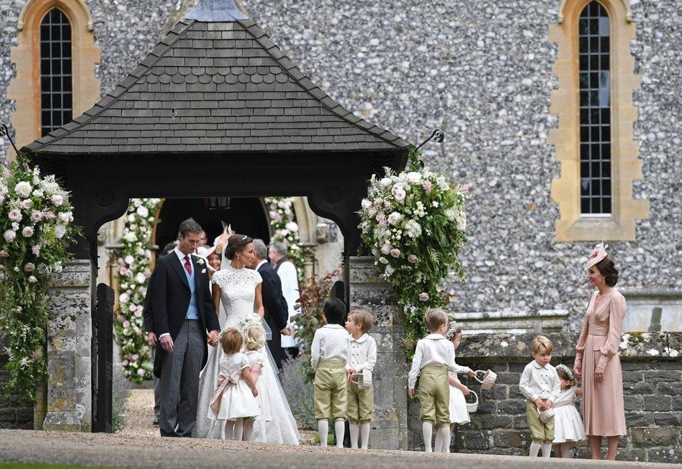 Paggetti e damigelle al matrimonio di Pippa Middleton