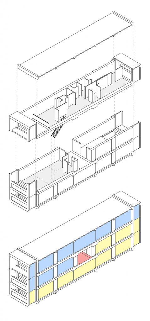 Appartamento duplex nell'Unité d'Habitation di Le Corbusier a Marsiglia