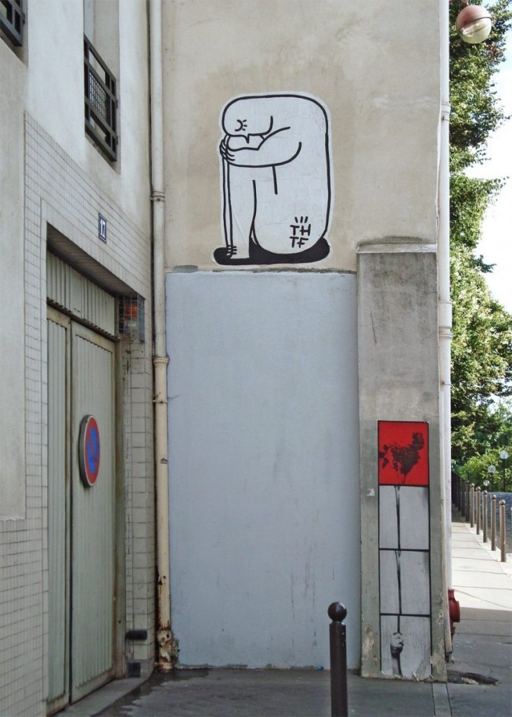 Murales nel quartiere Belleville di Parigi